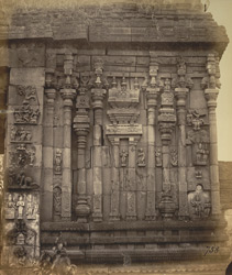 Close view of carving on inner face of gopura of the Narasimha Temple, Ahobilam